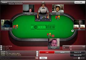 PokerView table